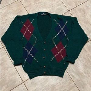 Vintage Men's Structure Cardigan Oversized Small
